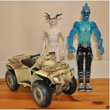 HM Armed Forces Desert Riding Quad Bike & Professor Gangrene Freeze Figures Toys