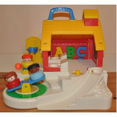 Fisher Price Play School House No 2559 Complete Vintage Playset Kids Toys