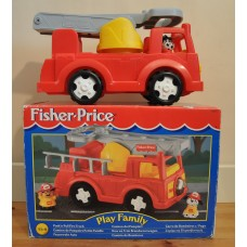 Fisher Price Play Family Push & Pull Along Fire Engine Truck 72575 Vintage Toy