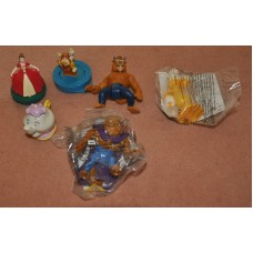 McDonalds Happy Meal Disney Beauty & The Beast Figures Bundle Collectibles Toys