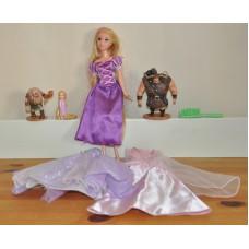 Disney Rapunzel Tangled Castle Rapunzel Short Thug Vladamir Figures Bundle Toy