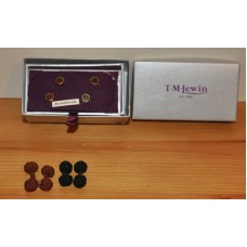 Ladies Gold Colour Bloodstone 2 Sets & 2 Sets Of Knots Of Cufflinks By TM Lewin
