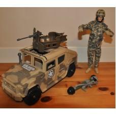 Chap Mei Soldier Force VII Bumbuster Hummer & Action Figure Sounds Bundle Toys