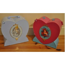 Disney Little Mermaid & Cinderella Take Along Heart Playsets Figures Bundle Toys