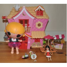 Lalaloopsy Houses Playsets & Including Small Dolls School Bus Bundle Kids Toys