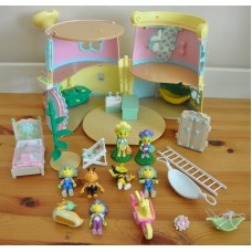 Fifi and the Flowertots Forget Me Not Cottage Deluxe Playset Figures Bundle Toys