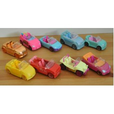 Polly Pocket  Pollywheels Race Cars Vehicles Bundle Of 9 Cars Kids Toys