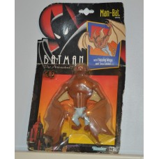 Batman The Animated Series Man Bat Figure Flapping Wings Tow Cable 1993 Unopened