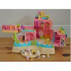 Polly Pocket Petland Magnetic Hacienda Ranch House Playset Animals Toys Mattel