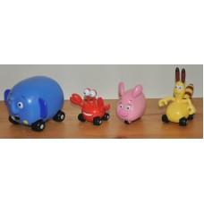 Disney Jungle Junction Ellyvan Taxicrab Zooter Bungo & Bug Plush Bundle Kid Toys