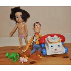 Disney Toy Story Bonnie Woody Chatter Phone Talking Alien Rex Hamm Bundle Toys