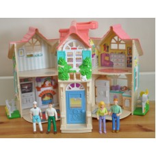 Fisher Price Sweet Street Dolls House With Figures Playset Bundle Kids Toys