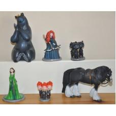 Disney Brave Merida Queen Elinor Triplet Bear Cubs Mumbear Angus Figures Toys