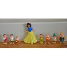 Disney Snow White & The Seven Dwarfs Figurines Figures Bundle Kids Toys
