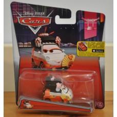 Disney Pixar Cars Okuni Tokyo Party Mattel 2015 Card Diecast Model BNIC Kids Toy