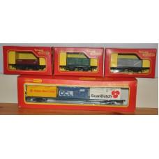 Bundle of Hornby TriAng R204 R10 R113 R243 Wagon Model Trains Rolling Stock OO Gauge