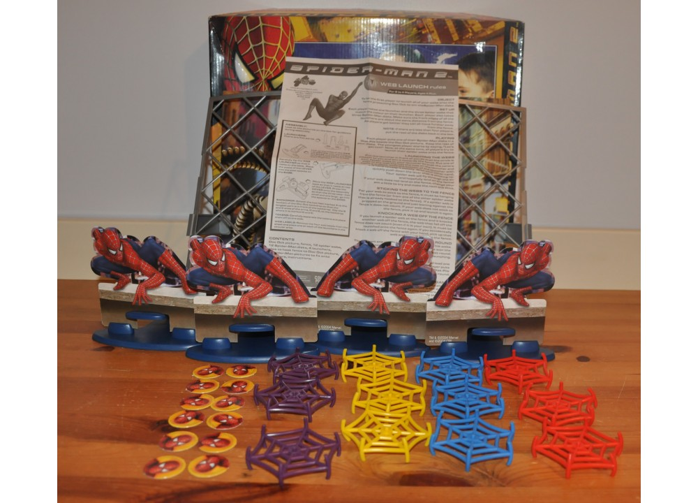 Spiderman 2 Web Launcher Game For 2 to 4 Players Ages 4 Plus Complete