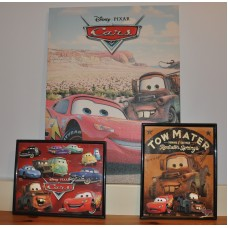 Disney Cars Canvas Wall Art Pictures For Kids Nursery Bedroom