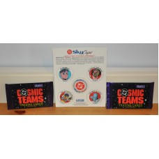 Cosmic Teams The Return Of Superman Skycaps 5 Pogs 16 Trading Cards